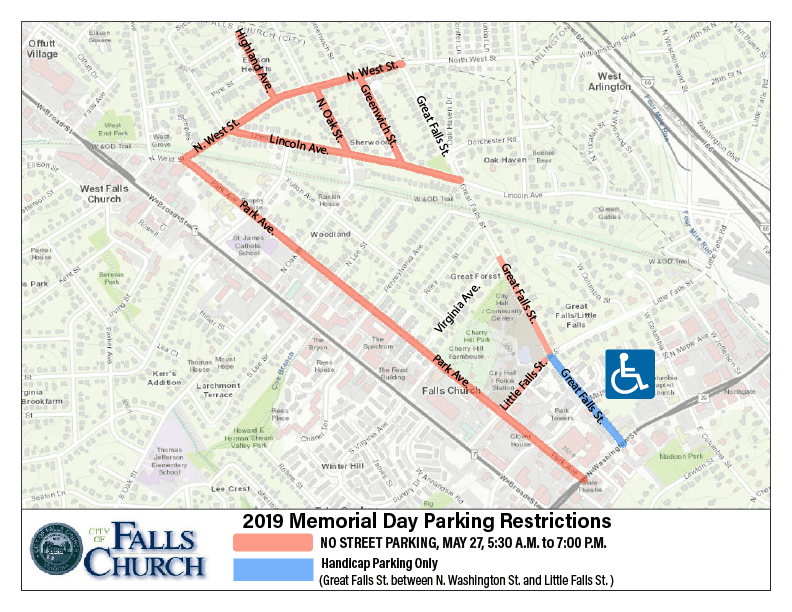 Memorial Day Street Parking Map 2019