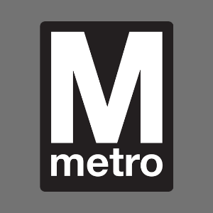 Logo of the WMATA Metro, a simple large M
