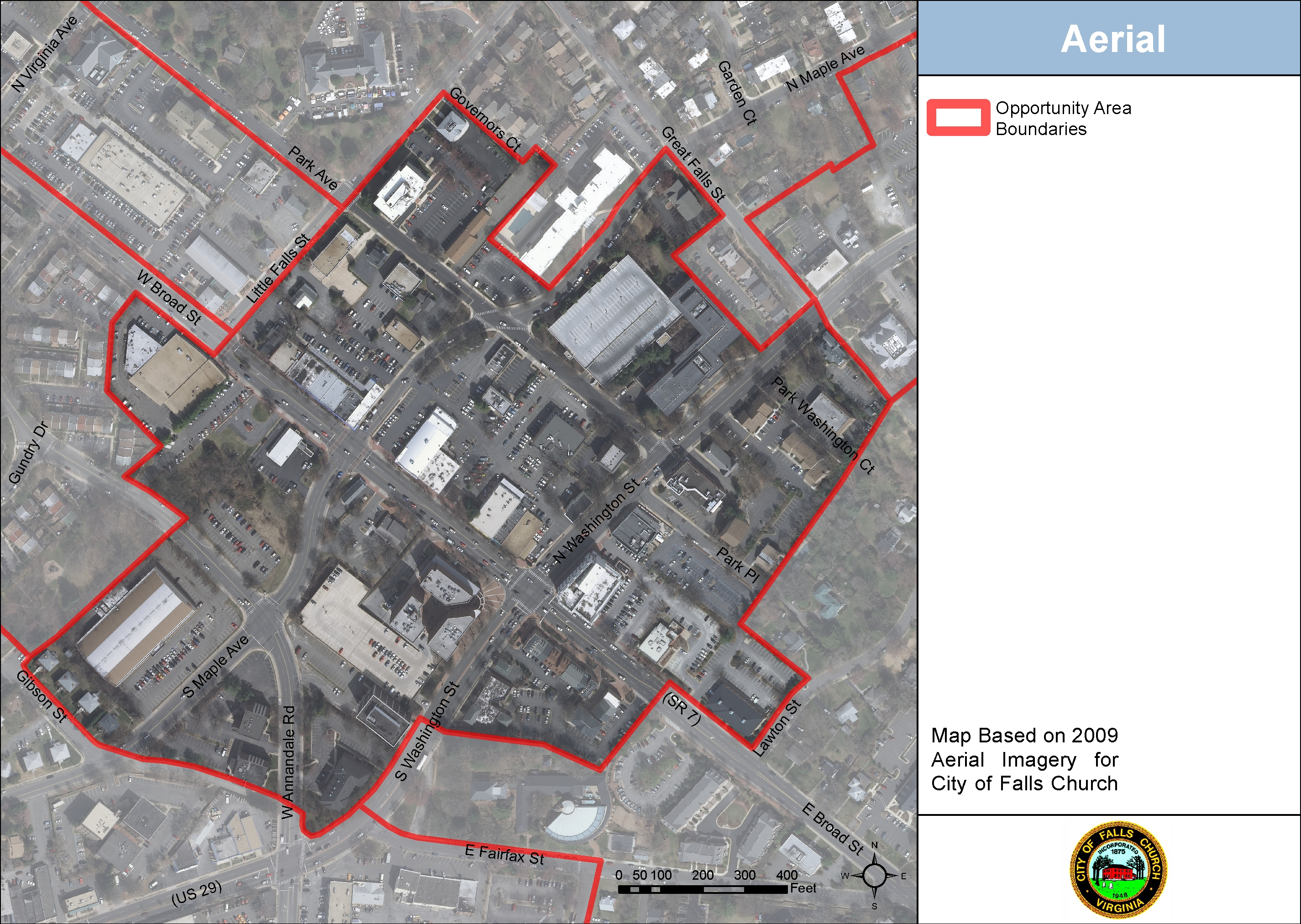 Downtown Falls Church Aerial