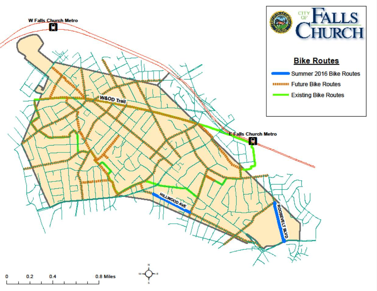 Summer 2016 Bike Routes Map
