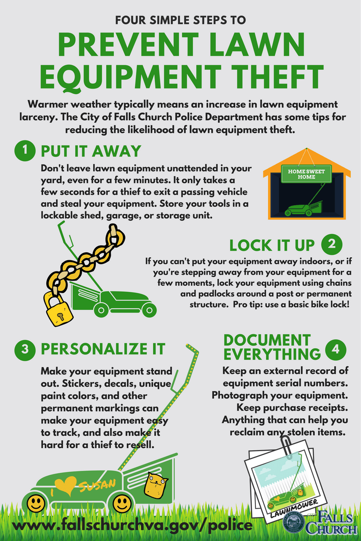 Protect Your Lawn Equipment infographic