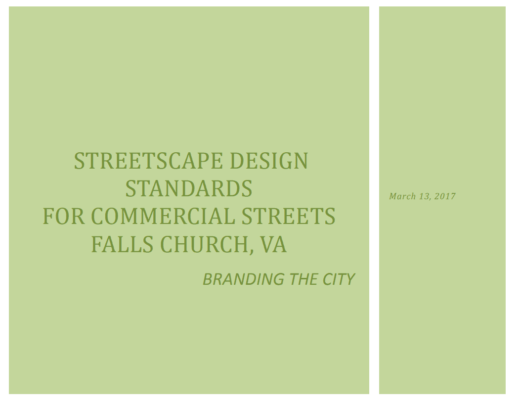 Streetscape Design Plan Cover