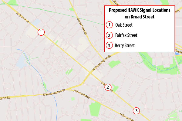 HAWK Signal Location Map 03262019