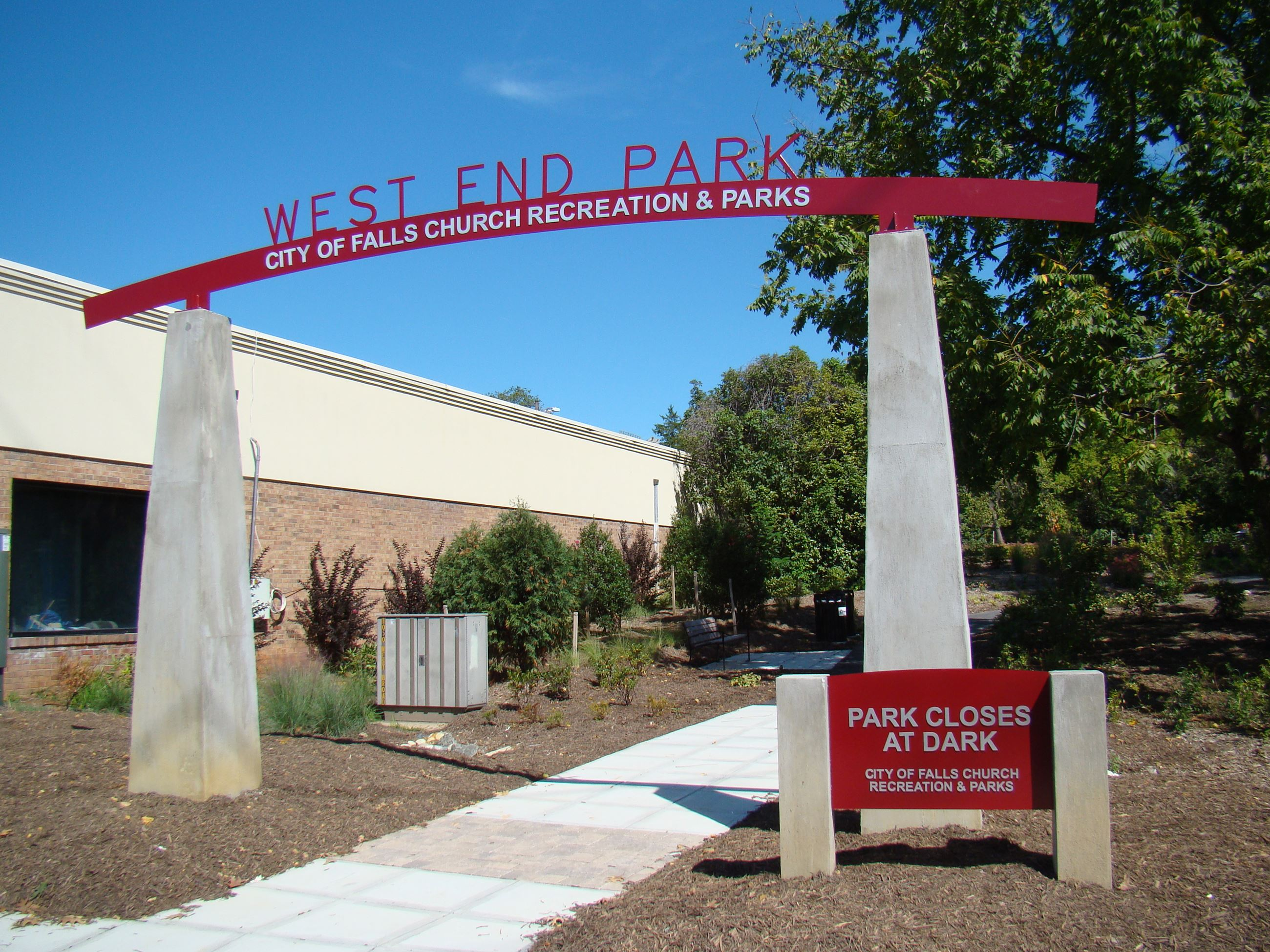 West End Park Entrance