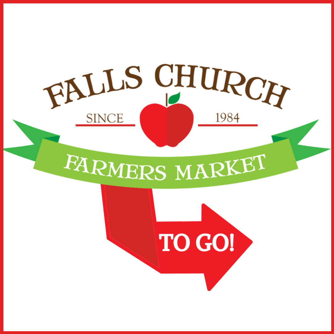Farmers Market To Go logo with a red apple