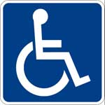 Americans with Disabilities Act (ADA) sign